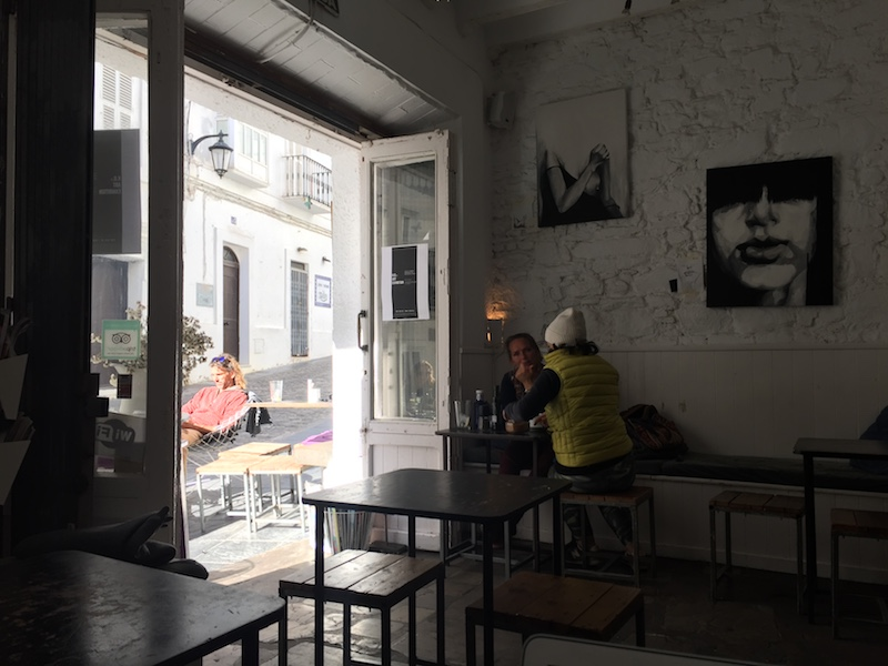 Image taken in Tarifa from Cafe 10 in the old town. It related to the personal dream of the girl to open a coffee shop.