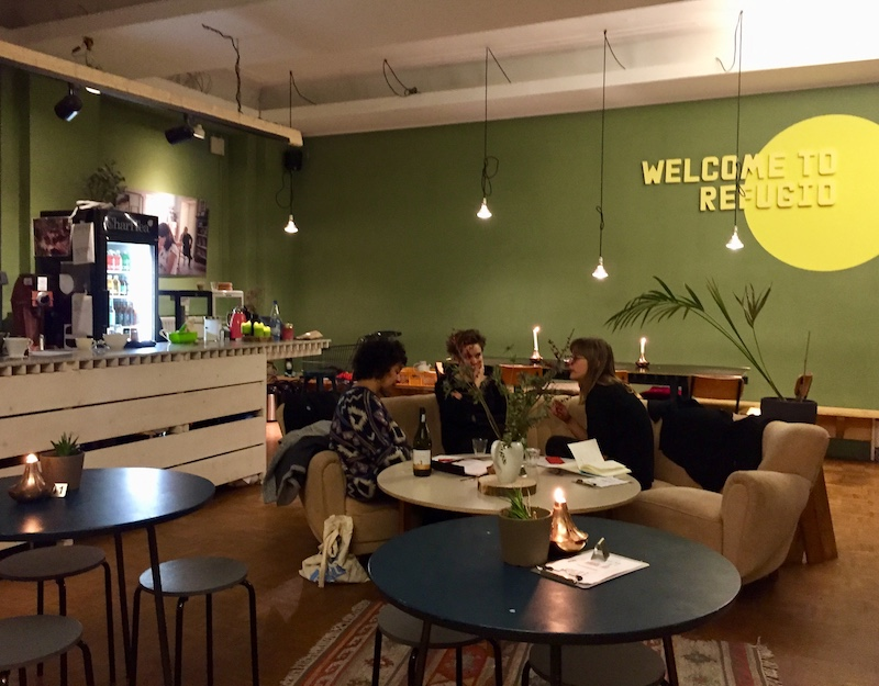 Image of the Refugio coffee shop in Berlin